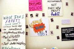 #NoCopAcademy signs